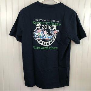 Vineyard Vines Navy Whale Pocket KY Derby T-shirt